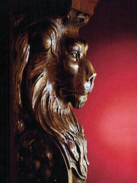 WOOD LION DETAIL