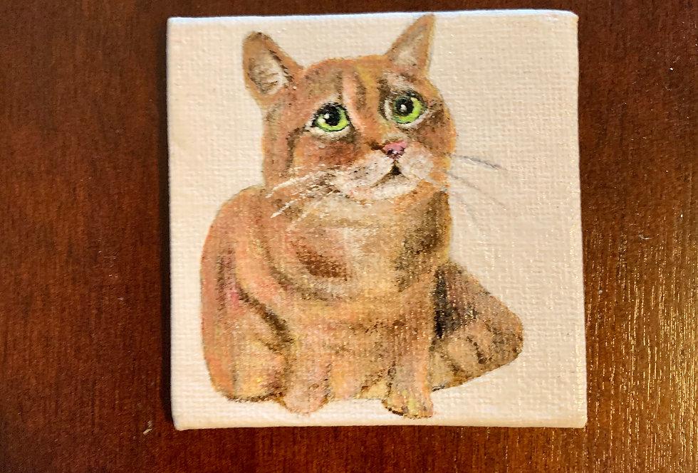 Custom Canvas Pet Portrait, Small