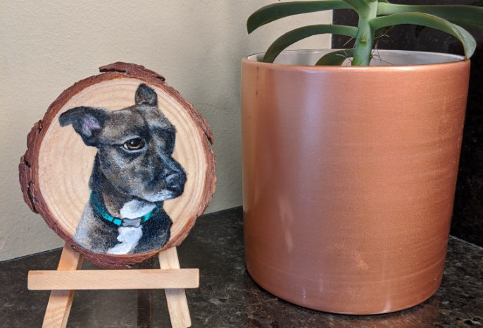 Custom Wood Pet Portrait, Small