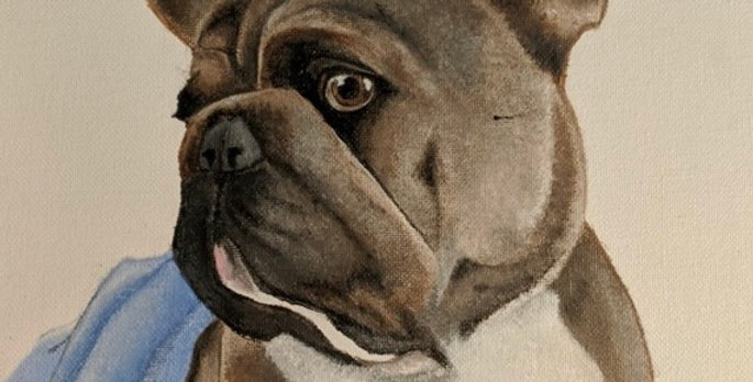 Custom Canvas Pet Portrait, Large