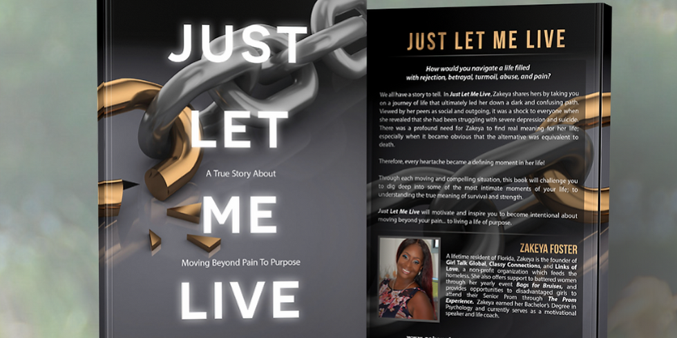 Just Let Me Live Book Signing and Conversations