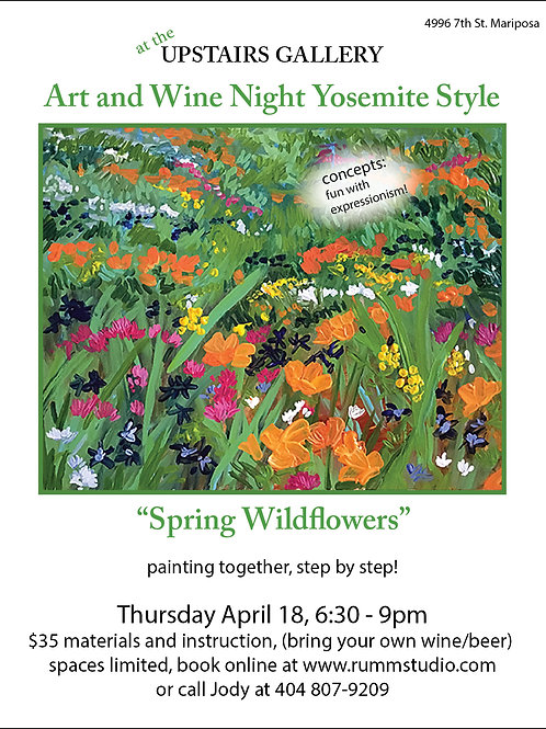 Art & Wine Night ADMIT ONE (April 18th)
