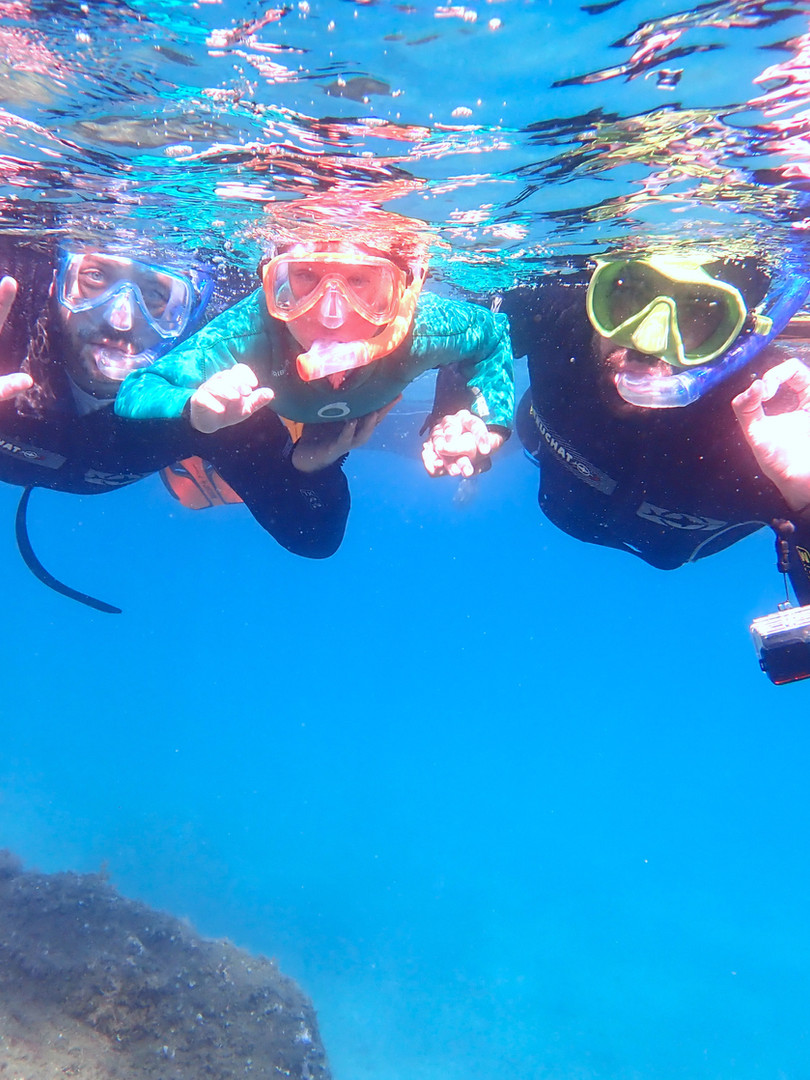 Snorkelling adventure with an expert marine biologist // Randonnee palmee avec une experte biologiste marine