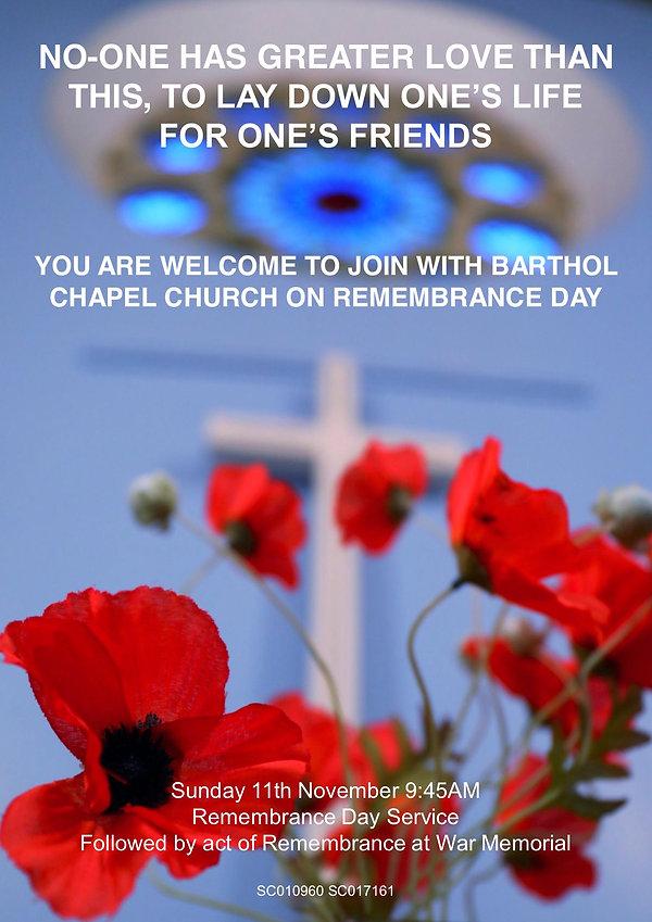 Barthol Chapel Church Remembrance Day Po