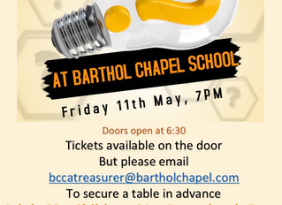 Barthol Chapel Family Quiz Night - (11th May, 7pm)
