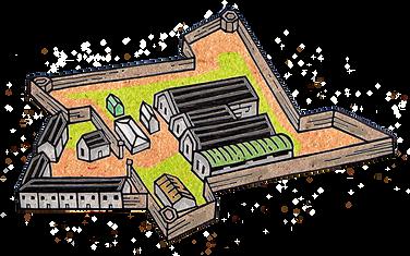 Magazine Fort Illustration