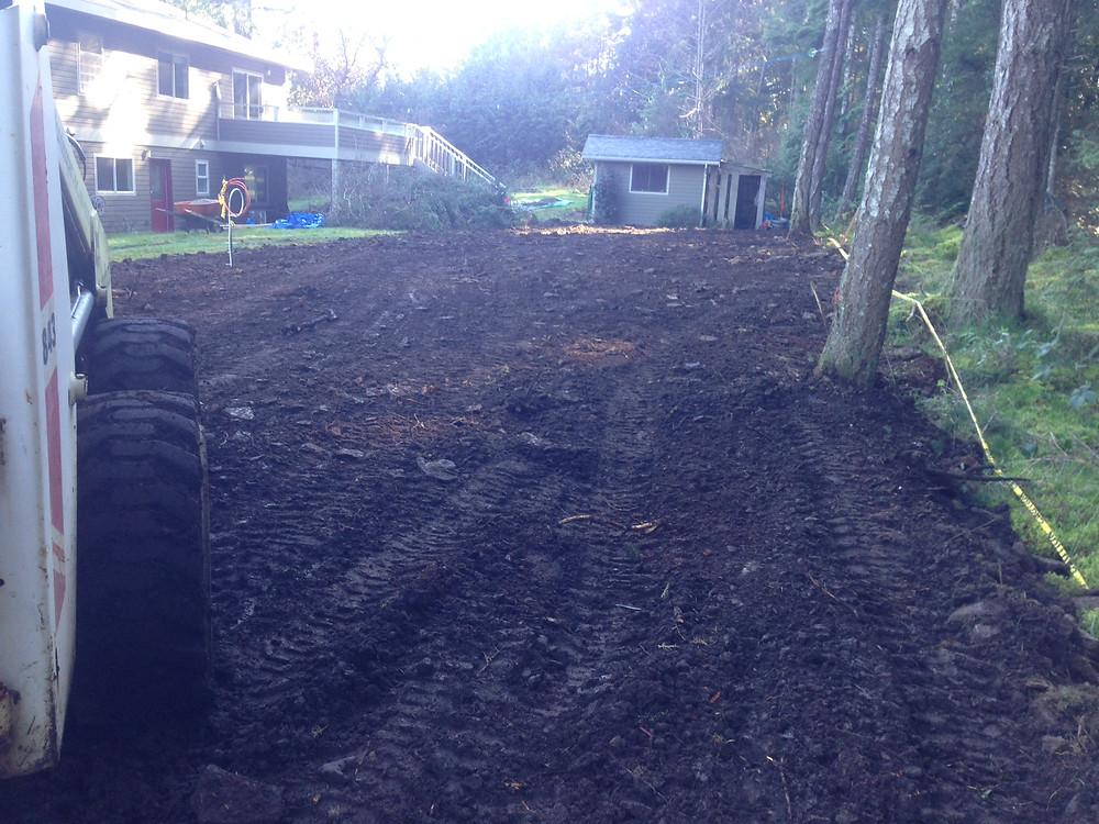 backyard leveling project