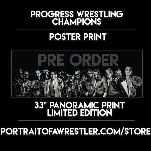 Progress Champions - PANORAMIC A1 POSTER PRINT