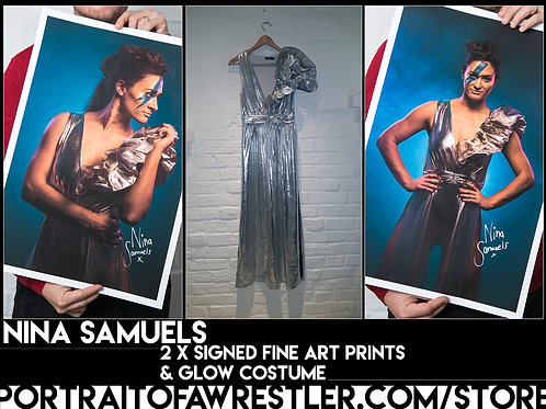 Nina Samuels Outfit and signed Prints