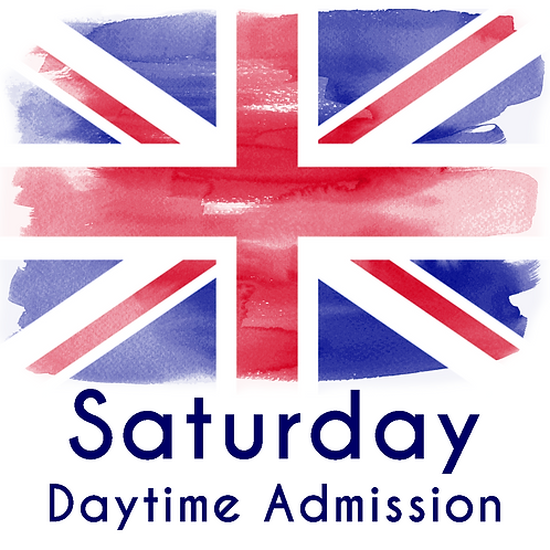 Saturday Daytime Admission