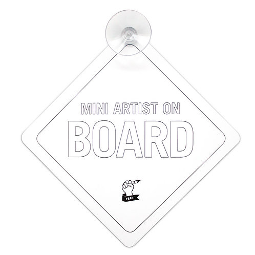 MINI ARTIST ON BOARD SIGN