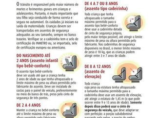 Cadeirinha de automóvel: Dispositivo obrigatório na segurança das crianças