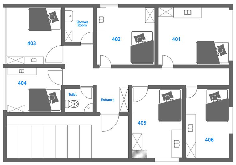 2호점 4,5층 도면