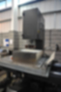 Precision sawing services Sheffield at the Advanced Manufacturing Park on the Large DANOBAT Vertical Band Saw at the IIDEA Limited