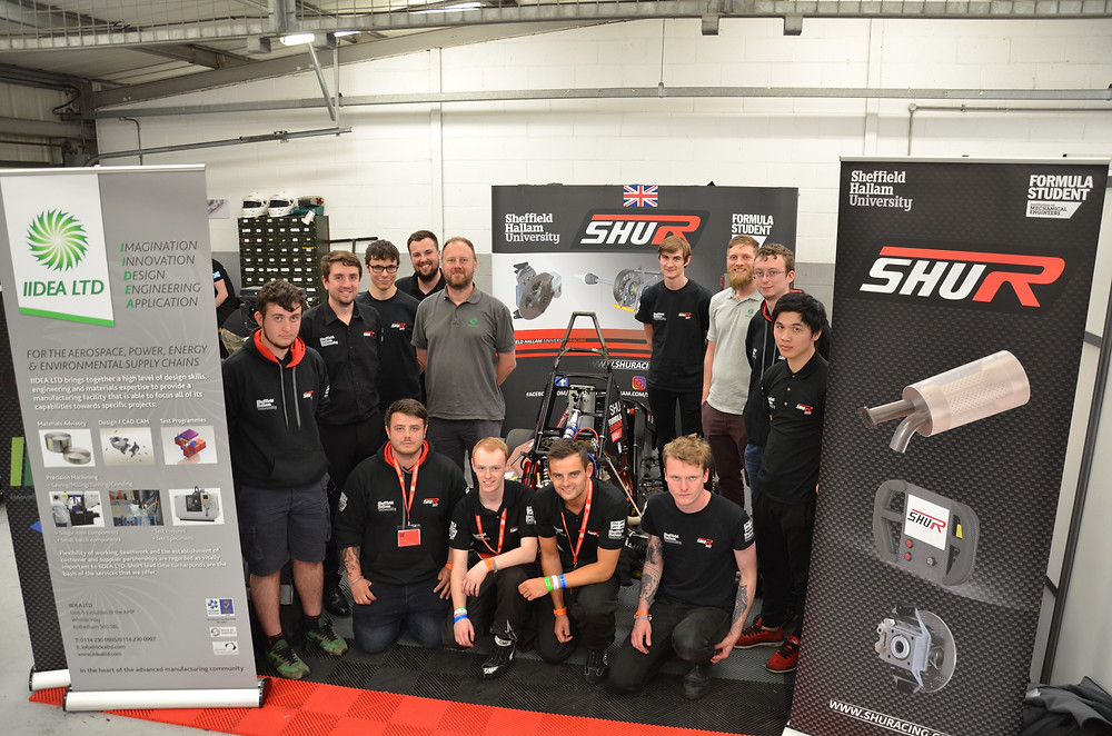 IIDEA Visit the SHU Racing Team as they Compete at Silverstone in 2017