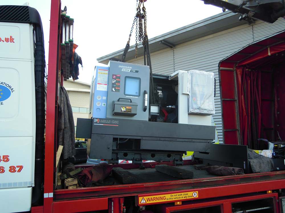 Second DOOSAN Lynx purchased by IIDEA is delivered to our manufacturing unit on the Advanced Manufacturing Park