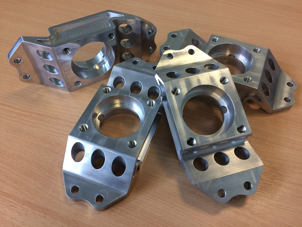 Aluminium hub carriers manufactured by IIDEA Limited for Sheffield Hallam Racing Team