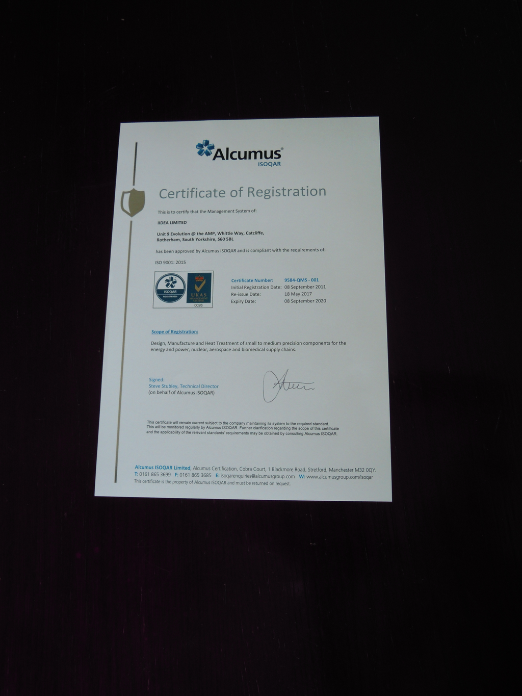 ISO 9001:2015 successful re-certified for another 12 months
