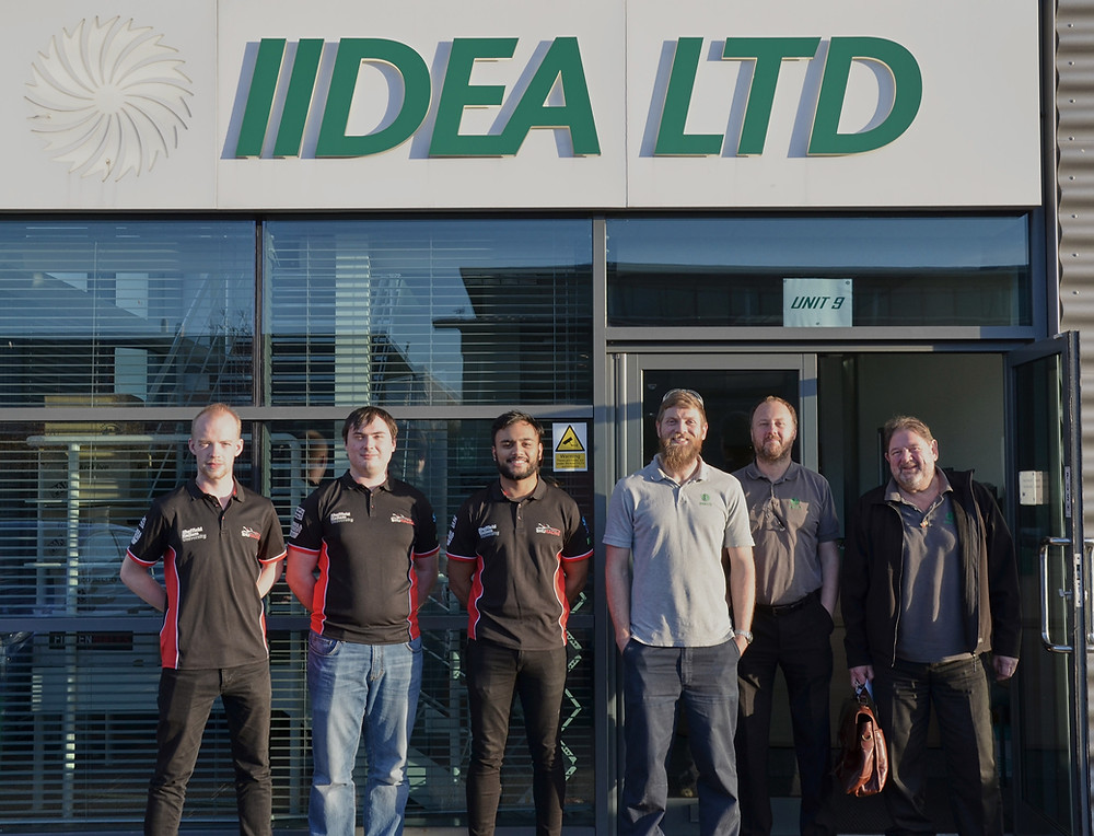 IIDEA were delighted to welcome some of the members of the SHU Racing Team to the IIDEA limited factory on the Advanced Manufacturing Park at Catcliffe, Rotherham