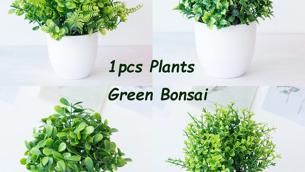Artificial Plants Green Bonsai Small Tree Pot Plants Fake Flower Potted Ornament