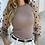 Thumbnail: Turtleneck Knitted Polka Dot Puff Long Sleeve Blouse Women Mesh Sheer
