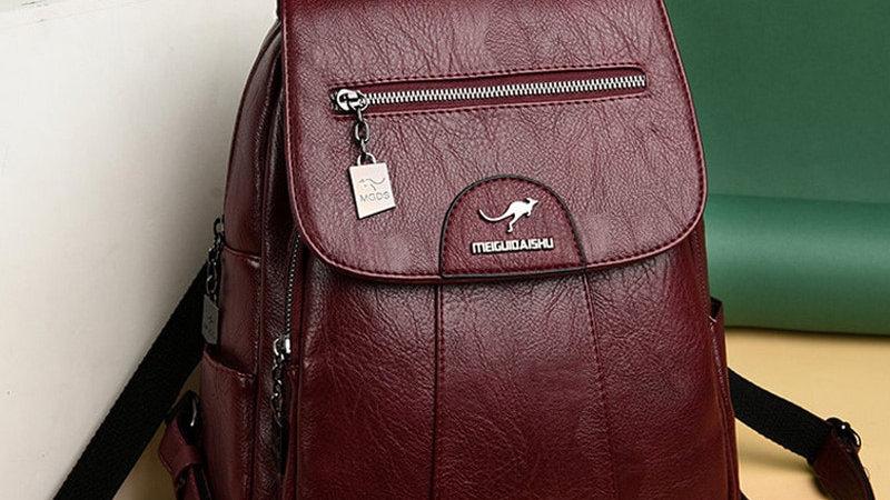 2020 Women Leather Backpacks High Quality Female Vintage Backpack for Girls