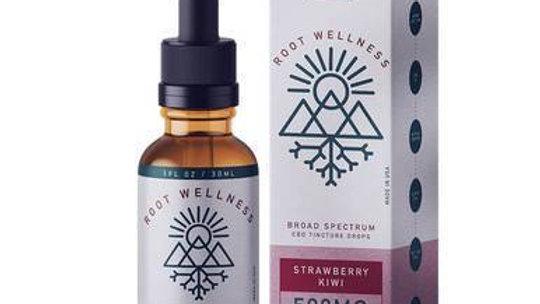 Root Wellness - CBD Tincture - Broad Spectrum Strawberry Kiwi - 500mg-1500mg
