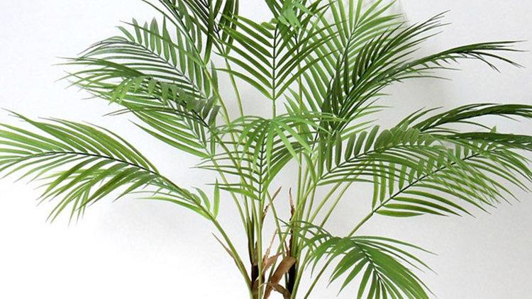 Plastic Artificial Palm Leaf Plants Green Desert Summer Decoration Tropical Fak