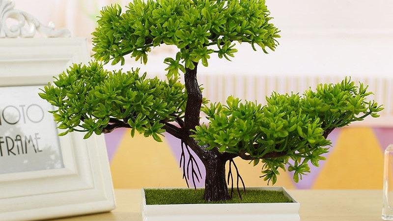 Pine Tree Simulation Flower Artificial Plant Bonsai Fake Green Pot Plants