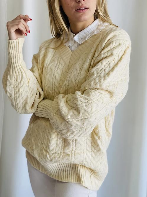 Sweater  Ecote V Trebzado Premium