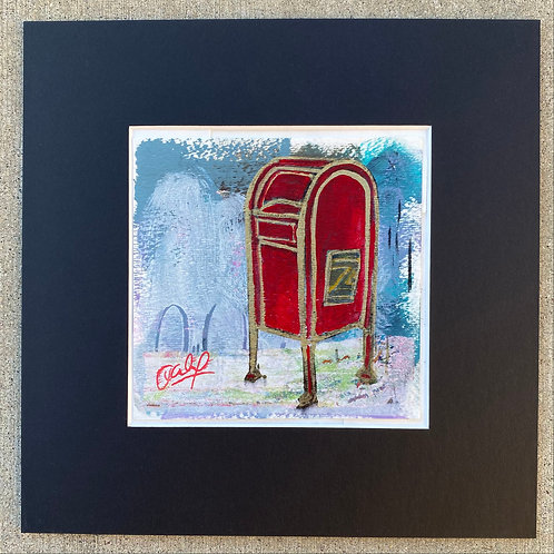 postal box in red