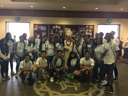 Youth with Bishop Larry