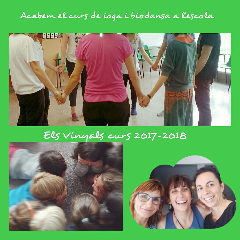 mestres, alumnes i facilitadores de ioga i biodansa.