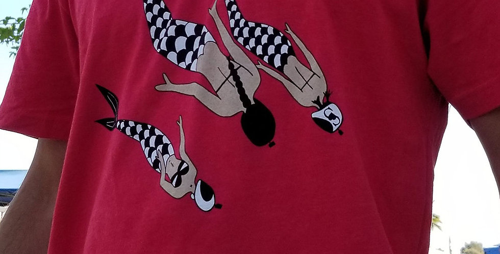 Mermaids Skydiving t-shirt