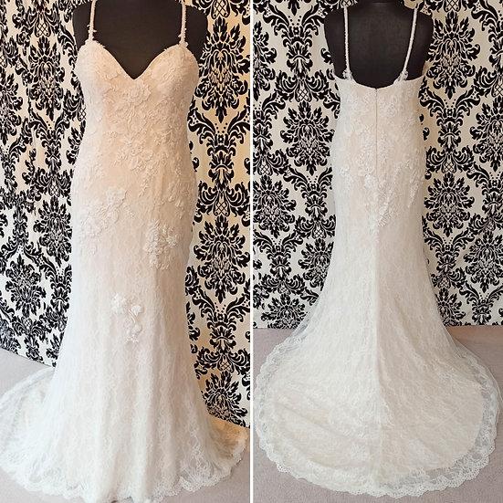 Size 14 Romantica 'Pandora' ivory/nude fit & flare wedding dress