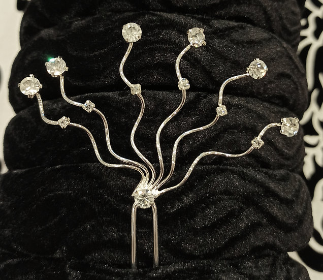 Diamante wave hair pins
