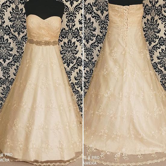 Size 30 NEW blush lace ballgown wedding dress