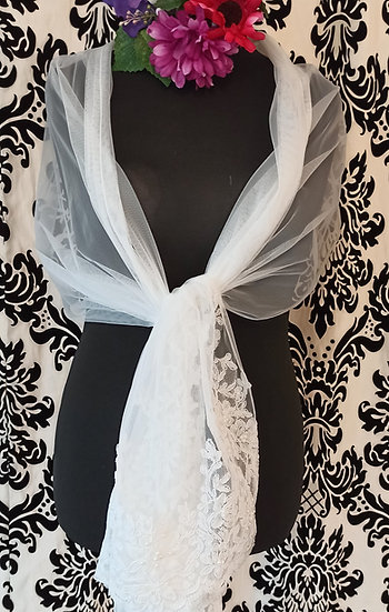 Tulle and lace wrap