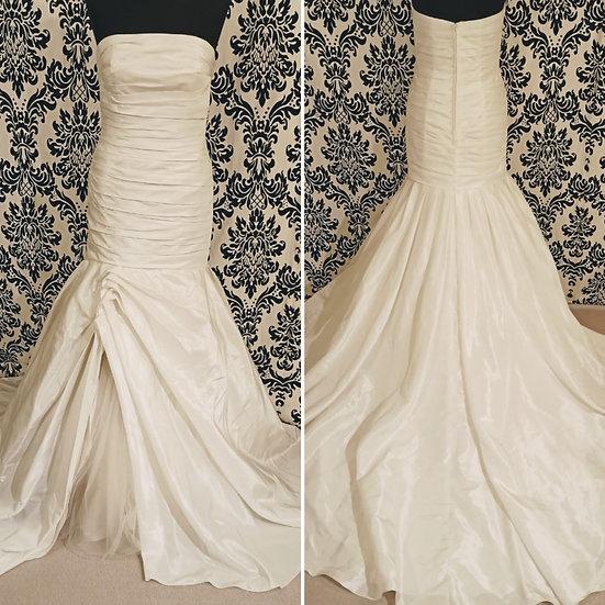 Size 12 sample satin & tulle wedding dress
