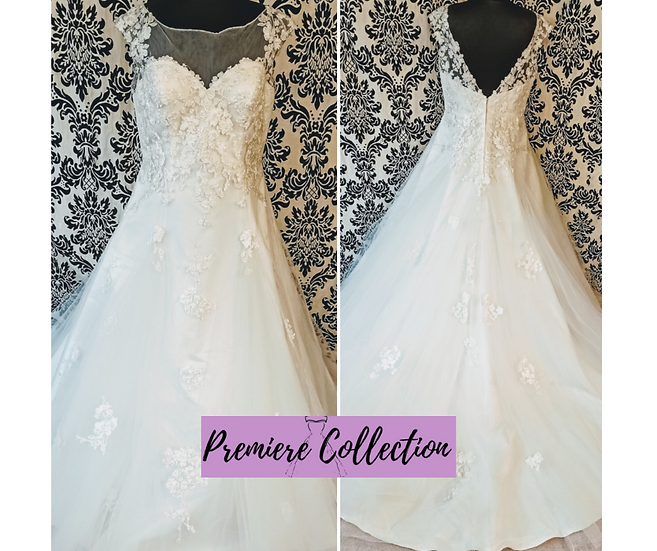 Size 22 Sapphire Collection lace & tulle A-line wedding dress