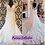 Thumbnail: Size 16/18 champagne lace fit & flare wedding dress with cap sleeves