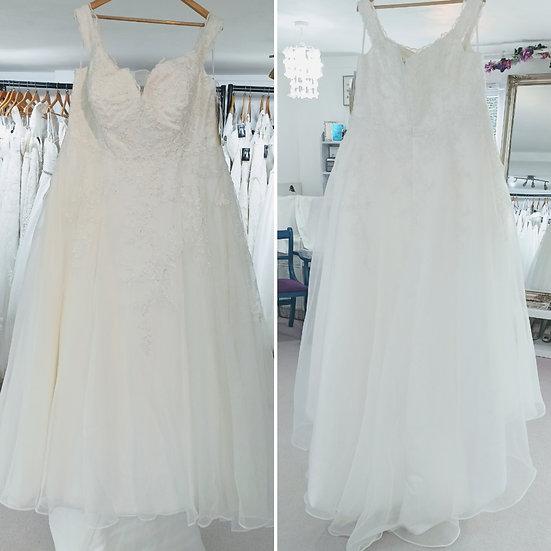 Size 26 Sonsie off the shoulder lace A-line wedding dress