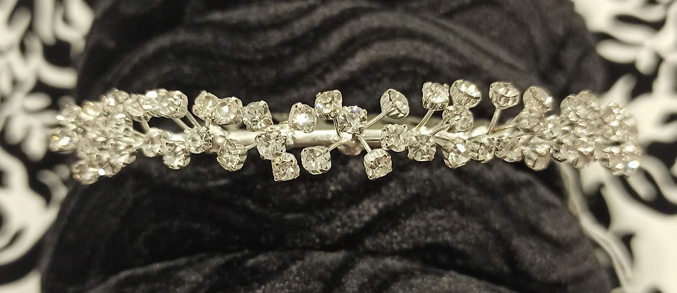 Diamante band mini tiara