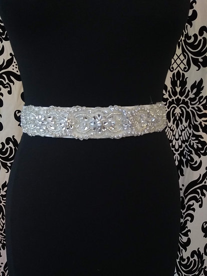 Bead and crystal sash