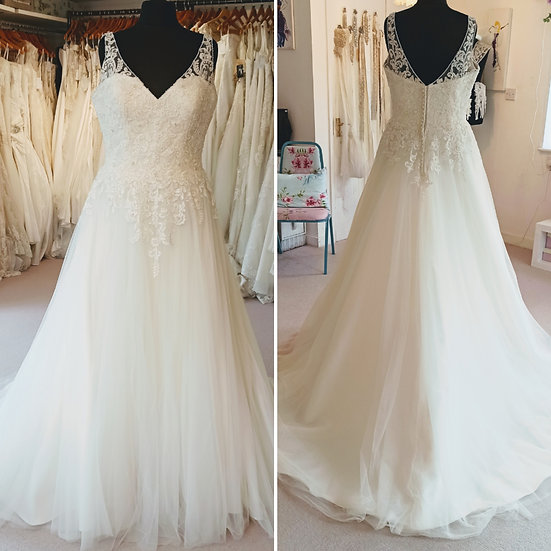 Size 20 Ladybird Bridal lace and bead A-line wedding dress
