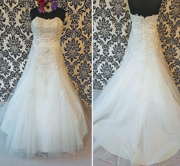 Size 14 Julian & Adam sparkly A-line wedding dress