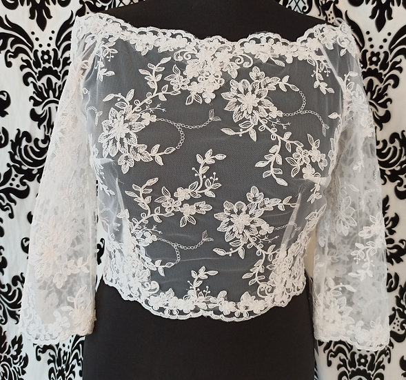 Size 14 Bianco Evento lace bardot top