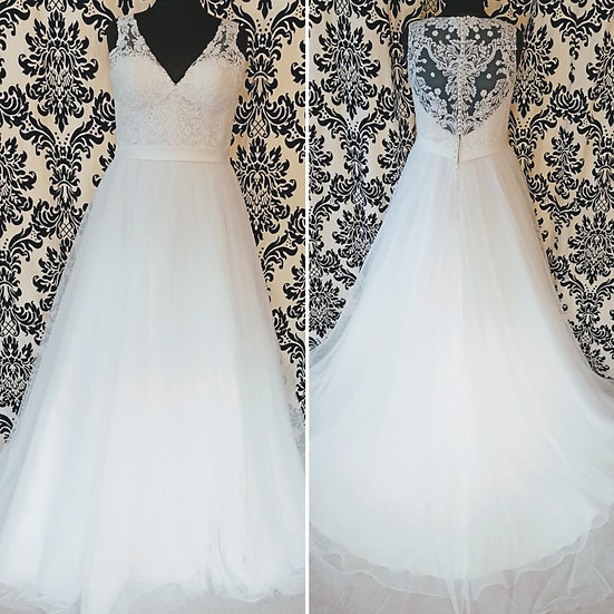 Size 14 Allure Romance ivory ballgown wedding dress