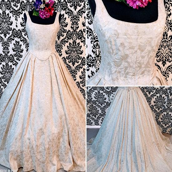 Size 10 Donna Salado gold brocade ballgown wedding dress