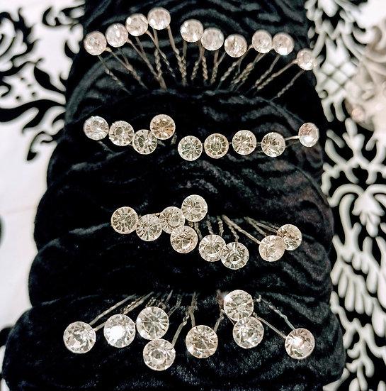 Diamante hair pins